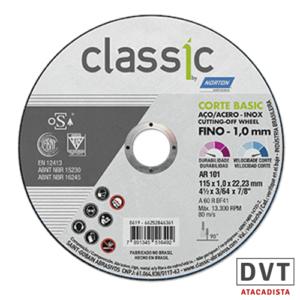 DISC CORTE INOX 7X1,6MM CLAS BASIC NORTON CX25