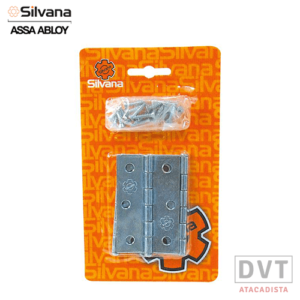 DOBRADIÇA 850 KIT C/3PCS ZINC 3.1/2″ SILVANA 91412